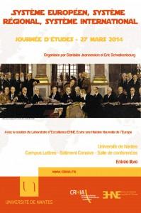 Journée d'études «Système européen, système régional, système international»