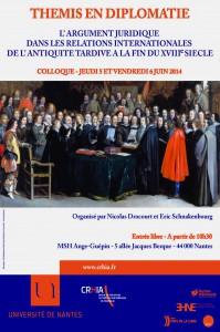 Thémis en diplomatie : L'argument juridique dans les relations internationales de l'antiquité tardive à la fin du XVIIIe siècle