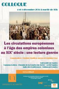 Les circulations européennes à l'âge des Empires coloniaux au XIXème siècle : une lecture genrée