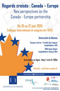 « Regards croisés : Canada – Europe »  « New perspectives on the Canada – Europe partnership »