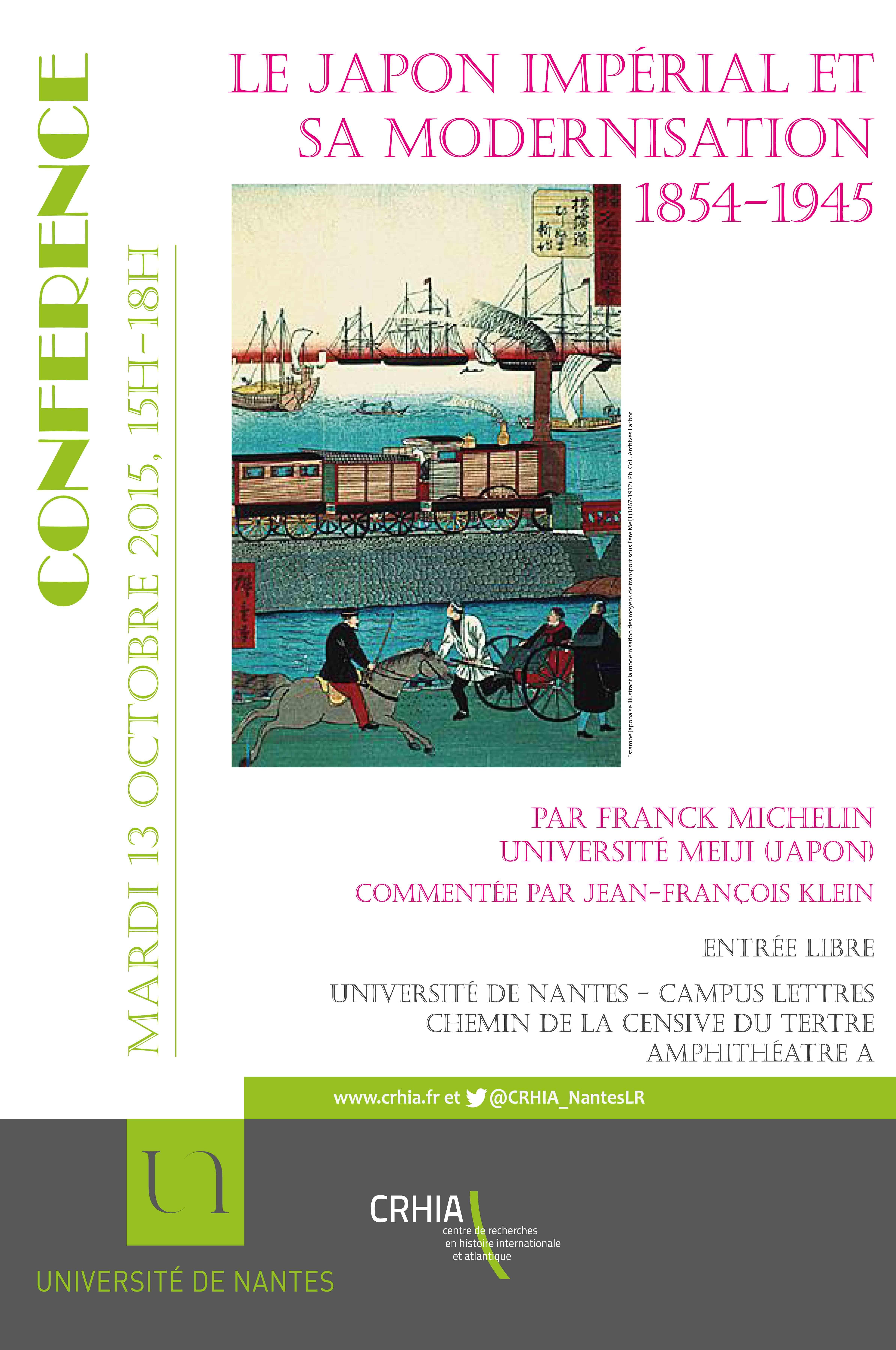 Conférence de Franck Michelin : Le Japon impérial et sa modernisation, 1854-1945