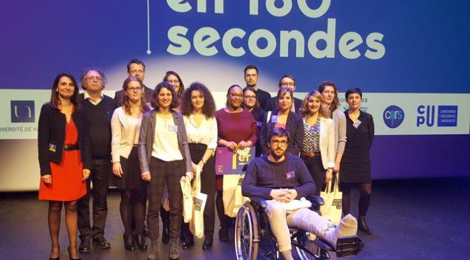 Lorraine Stravens remporte le Premier prix du Jury du défi «Ma Thèse en 180 secondes» de l'Université de Nantes